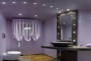 лед светильники в ванной комнате